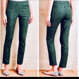Anthropologie Cartonnier Green Ankle Pants